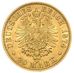 20 Mark Preussen Wilhelm I