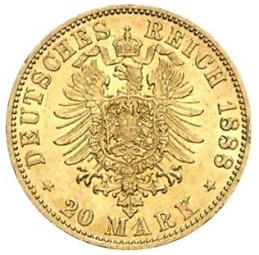 20 Mark Preussen Wilhelm II / 20 Stück