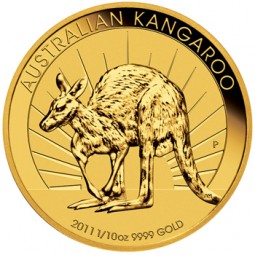 Australien Nugget / Känguru 1/10 Unze