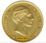 25 Pesetas Alfonso XII.