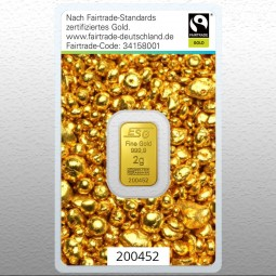 Goldbarren 2 Gramm Fairtrade