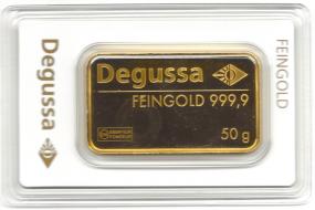 Goldbarren 50 Gramm Feingold