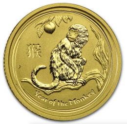 Jahr des Affen 1/10 Unze 2016