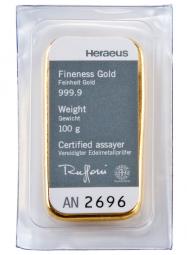 Goldbarren 100 Gramm Feingold