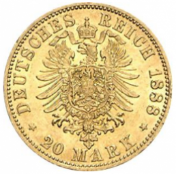 20 Mark Preussen Wilhelm II / 100 Stück