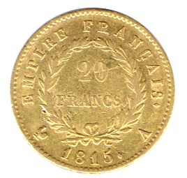 20 Francs Napoleon I. 100 Tage Herrschaft