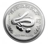 Jahr der Schlange 1 kg Silber 2001 Lunar I.