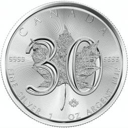 Maple Leaf 30 Jahre 1 Unze / 500 Stück