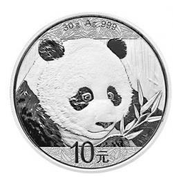 Panda 30 Gramm 2018 / 15 Stück