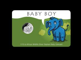 Geburtsgeschenk Baby Coincard Junge