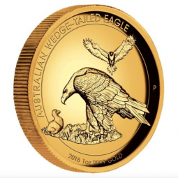 Wedge Tailed Eagle 2018 1 Unze Gold High Relief Polierte Platte