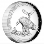 Wedge Tailed Eagle 2018 1 Unze Silber High Relief Polierte Platte