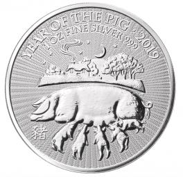 Jahr des Schweins UK Lunar 1 Unze 2019 / 25 Stück