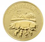 100 Pfund Jahr des Schweins UK 2019