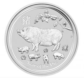 Jahr des Schweins Lunar II 1/2 Unze 2019