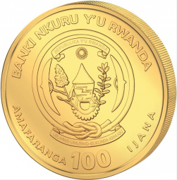 African Ounce Schuhschnabel Ruanda 1 Unze Gold 2019
