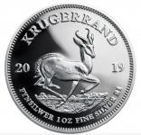 Krügerrand 1 Unze Silber Polierte Platte 2019