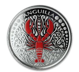 Anguilla Lobster 1 Unze Ag Farbe