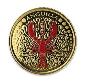 1 Unze Anguilla Lobster Au Farbe