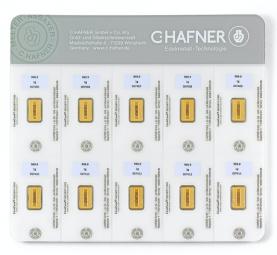 10 x 1 Gramm C.Hafner Smartpack