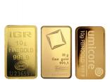 Goldbarren 10 Gramm Feingold diverse
