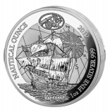 Nautical Ounce Victoria 1 Unze 2019 Polierte Platte