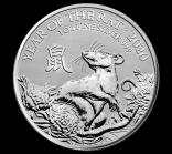 Jahr der Maus Lunar UK 1 Unze 2020