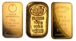 Goldbarren 100 Gramm Feingold diverse