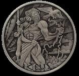 1 Unze Zeus Gods of Olympus Antikfinish 2020