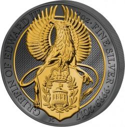 5 Pfund Queens Beast Greif/Griffin Golden Enigma 2017