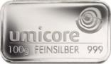 Silberbarren 100 Gramm Feinsilber