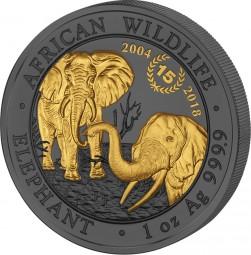 100 Shilling 15 Jahre Elefant Golden Enigma 2018