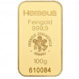 Goldbarren 100 g zur Lagerung