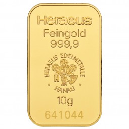 Goldbarren 10 g zur Lagerung