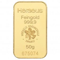 Goldbarren 50 g zur Lagerung