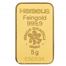 Goldbarren 5 g zur Lagerung