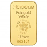 Goldbarren 1 Unze zur Lagerung