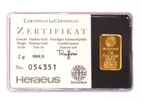 Goldbarren 2 Gramm kinebar™