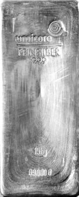 Silberbarren 15 Kilogramm Feinsilber