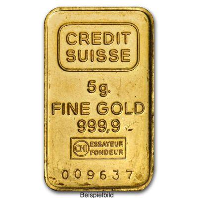 Goldbarren 5 Gramm Feingold diverse