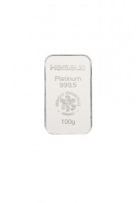 Platinbarren 100 Gramm Feinplatin