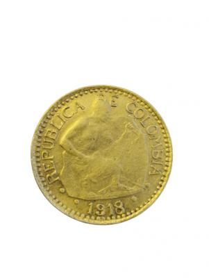 5 Peso Kolumbien Bergmann Gold