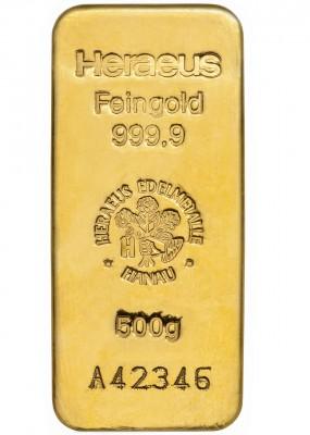 Goldbarren 500 g zur Lagerung