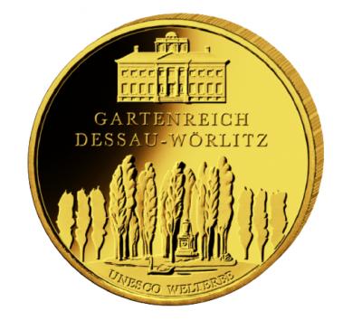 100 Euro Dessau-Wörlitz 2013 1/2 oz Au