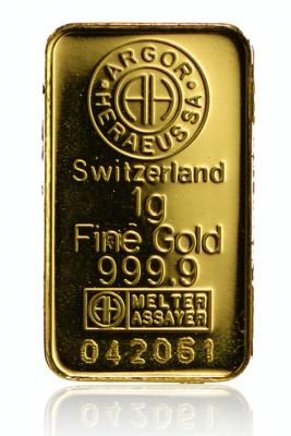 Goldbarren 1 Gramm Feingold diverse