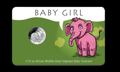 Geburtsgeschenk Baby Coincard Mädchen
