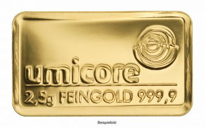 Goldbarren 2.5 Gramm Feingold