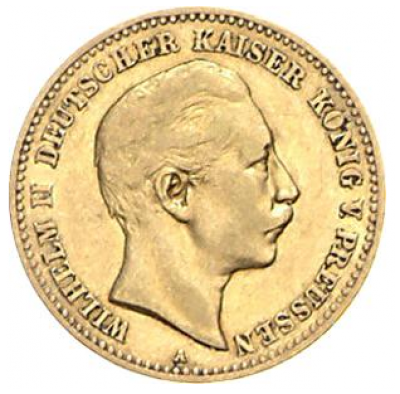 10 Mark Preussen Wilhelm II