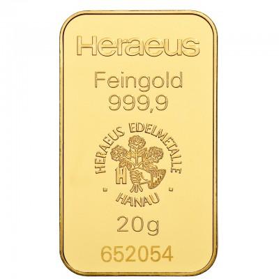 Goldbarren 20 g zur Lagerung