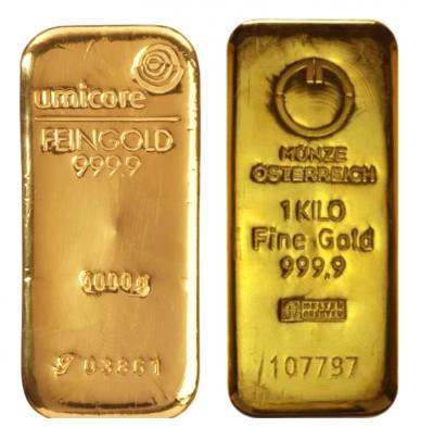 Goldbarren 1 kg Feingold LBMA diverse